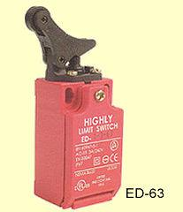 ED-63 Gőrgőkaros végálláskapcsoló 250VAC, 10A, IP67