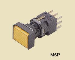 M6P nyomókapcsoló, visszaálló, reteszelt, 1 és 2 ák. Alak: kerek, négyzet, téglalapLámpa: 6, 14, 28VDC/AC, 110, 220ACLED: 6, 12, 24VDC Csatlakozás: forrasztható, dugaszolható, NYÁK-osSzín: piros,zöld, sárga, narancs, fehér, kék